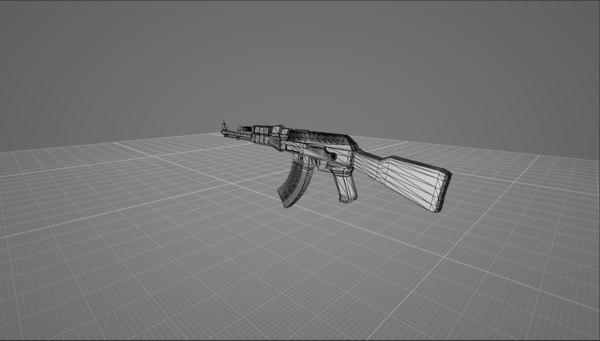 3D model weapon gun