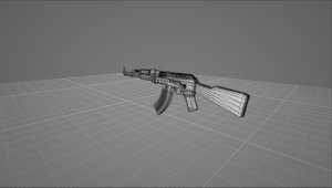 3D model weapon gun