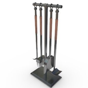 3D fireplace tool model