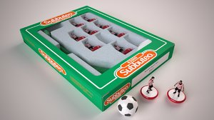 subbuteo table soccer football 3D model