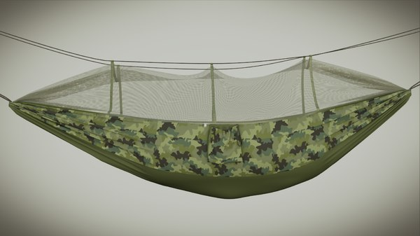 3D hiking hammock model