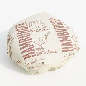 packed hamburger 3D