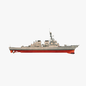 3D uss barry ddg model