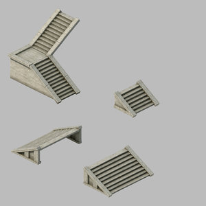 3D building accessories - stairs model
