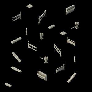 3D building accessories - fence