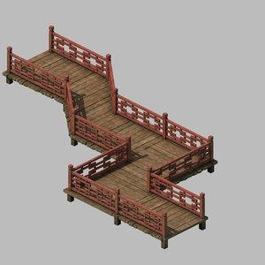 3D building - wooden bridge model