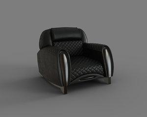 imola carbon armchair seat 3D model