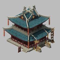3D building - inn hotel model