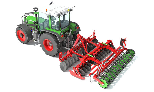 tractor disc harrow 3D model