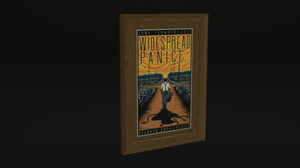 widespread panic poster 3D model