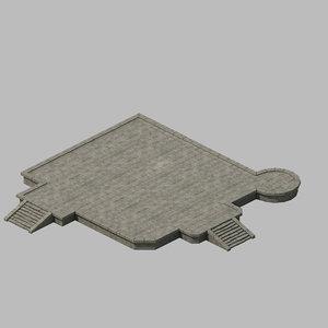 3D building - blacksmith ground