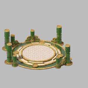building - xinshoucun platform 3D model