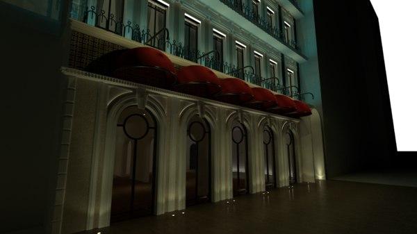 classic hotel 3D model