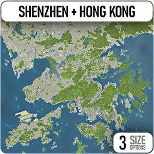 3D city shenzhen hong kong