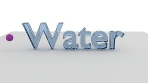 liquid water text animation model