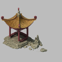 3D building - xinshoucun pavilion model