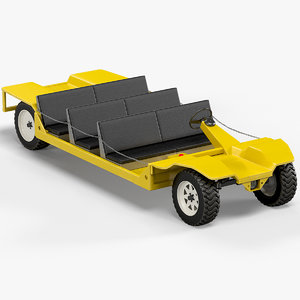 3D dc electric mining vehicle model