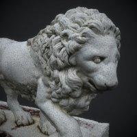 3D statue lion elagin island