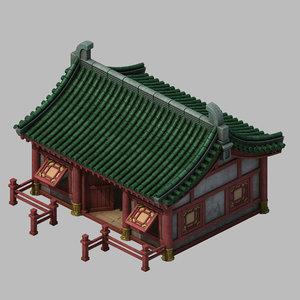 building - yan overlooking 3D