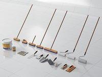 Brush, Roller Brush, Floor Brush, Trowel Set
