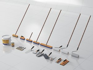 roller floor brush 3D model