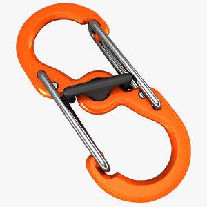 3D carabine spring hook