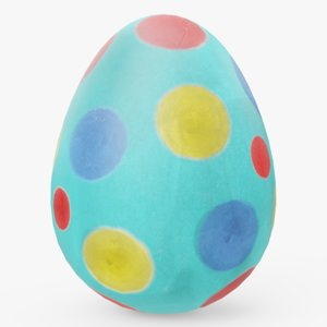 3D decorated easter egg 02