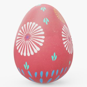 decorated easter egg 01 3D