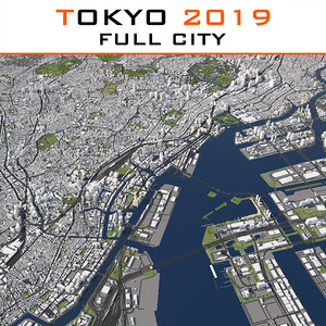 tokyo cityscape 2019 city model