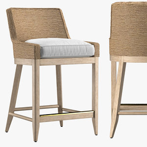 marisol seagrass track stool 3D