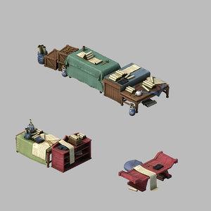 architecture - city book 3D model