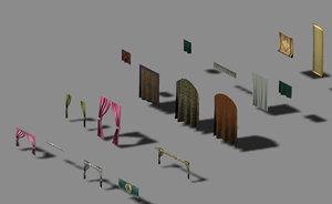 3D building decoration - curtains model