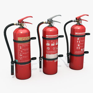extinguishers lots 3D