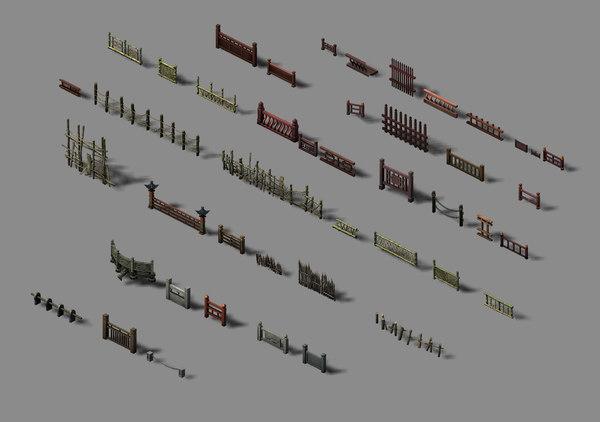 building decoration - fence 3D model