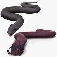 3D serpent monsters