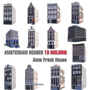 3D amsterdam houses 13 anna model