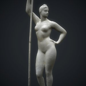 3D statue girl paddle