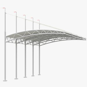 3D model canopy modeled
