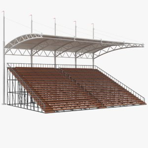 bleacher modeled 3D