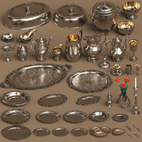 silver holloware set 44 model