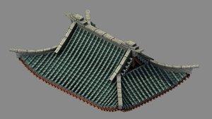 3D building - decoration roof model