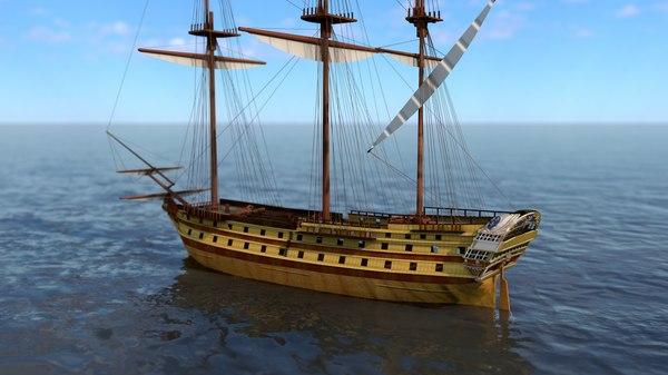 le glorieux ship line 3D model