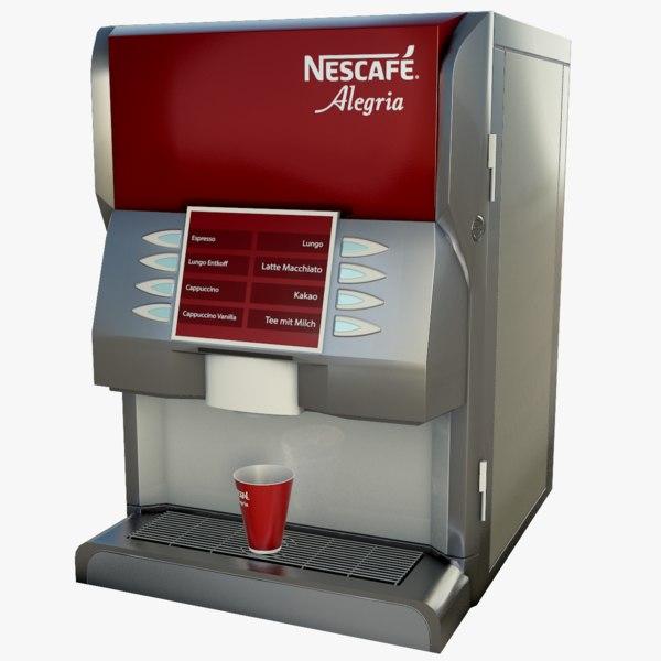 3D nescafe coffee machine