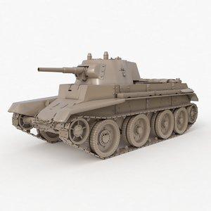 tank bt 7 soviet 3D