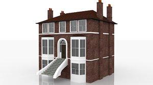 edwardian townhouse housing 3D model