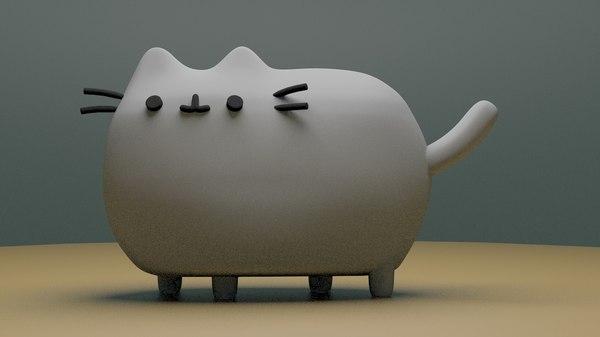 3D pusheen cat