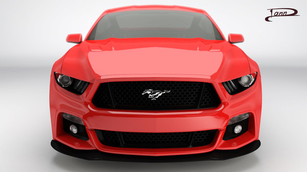 3D mustang 2015 model