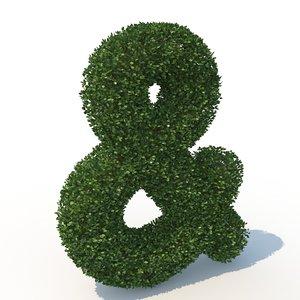3D shaped hedge