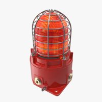 Warning Light Red