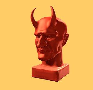 3D devil horns model